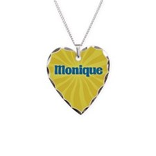 Monique Sunburst Necklace Heart Charm