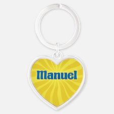 Manuel Sunburst Heart Keychain