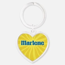 Marlene Sunburst Heart Keychain