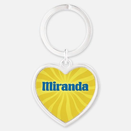 Miranda Sunburst Heart Keychain