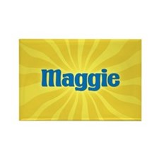 Maggie Sunburst Rectangle Magnet