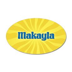 Makayla Sunburst 35x21 Oval Wall Decal