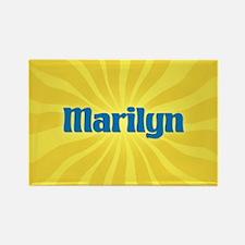 Marilyn Sunburst Rectangle Magnet