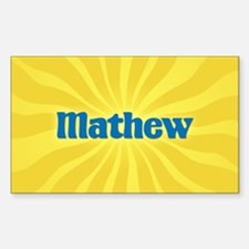 Mathew Sunburst Oval Decal
