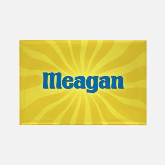 Meagan Sunburst Rectangle Magnet