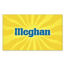 Meghan Sunburst Oval Decal