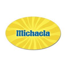 Michaela Sunburst 35x21 Oval Wall Decal