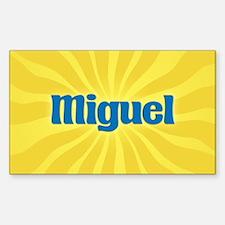 Miguel Sunburst Oval Decal