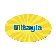 Mikayla Sunburst Oval Car Magnet
