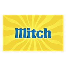 Mitch Sunburst Oval Decal