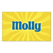 Molly Sunburst Oval Decal