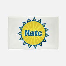 Nate Sunburst Rectangle Magnet