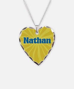 Nathan Sunburst Necklace Heart Charm