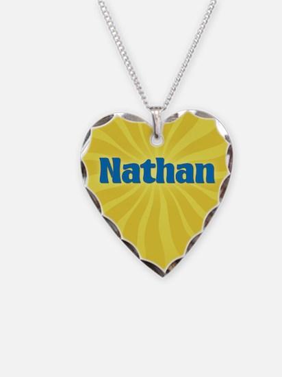 Nathan Sunburst Necklace Heart Charm