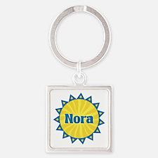 Nora Sunburst Square Keychain
