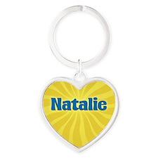 Natalie Sunburst Heart Keychain