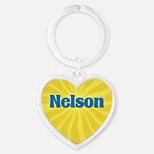 Nelson Sunburst Heart Keychain