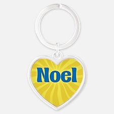 Noel Sunburst Heart Keychain