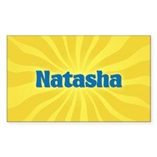 Natasha Sunburst Oval Decal