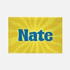 Nate Sunburst Rectangle Magnet