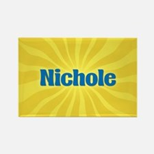 Nichole Sunburst Rectangle Magnet