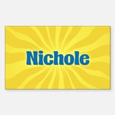 Nichole Sunburst Oval Decal