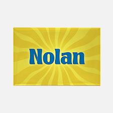 Nolan Sunburst Rectangle Magnet