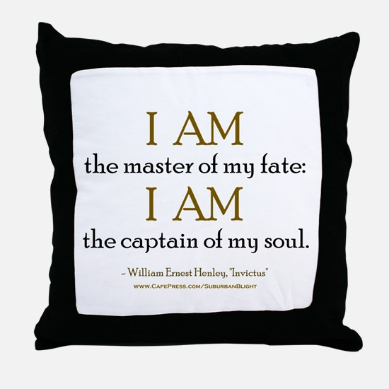 """""""Master Of My Fate"""" Throw Pillow"""
