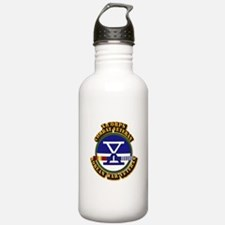 Army - X Corps w Korean Svc Water Bottle