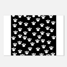 Paw Print Pattern. Postcards (Package of 8)