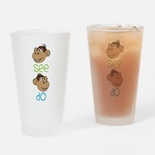 Monkey See Drinking Glass