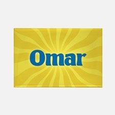 Omar Sunburst Rectangle Magnet