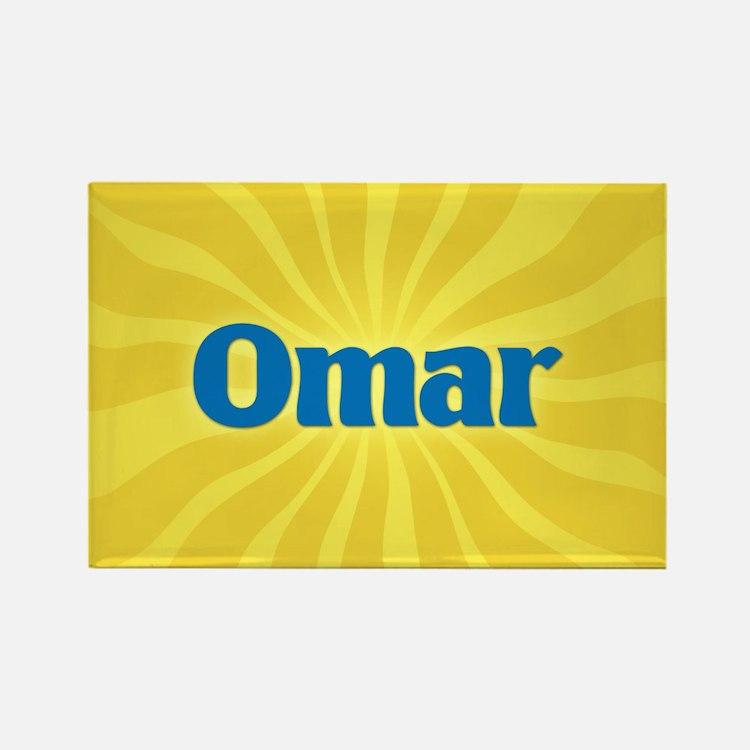 Omar Sunburst Rectangle Magnet