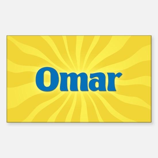 Omar Sunburst Oval Decal