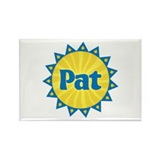 Pat Sunburst Rectangle Magnet