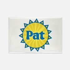 Pat Sunburst Rectangle Magnet