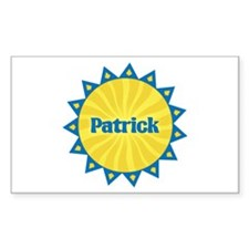 Patrick Sunburst Rectangle Decal