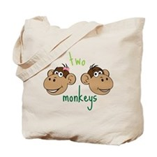 Two Monkeys Tote Bag