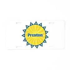 Preston Sunburst Aluminum License Plate