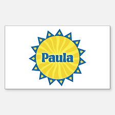 Paula Sunburst Rectangle Decal