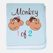 Monkey 1 baby blanket