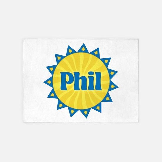 Phil Sunburst 5'x7' Area Rug