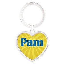 Pam Sunburst Heart Keychain