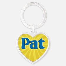 Pat Sunburst Heart Keychain