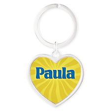 Paula Sunburst Heart Keychain
