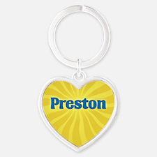 Preston Sunburst Heart Keychain