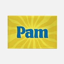 Pam Sunburst Rectangle Magnet