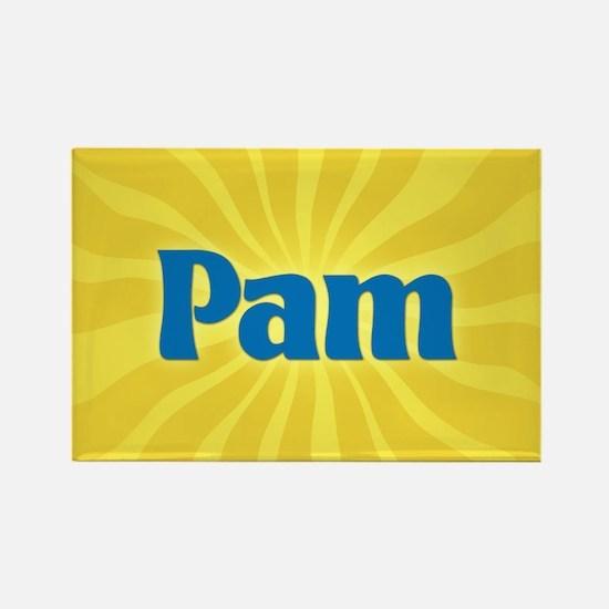Pam Sunburst Rectangle Magnet