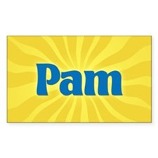 Pam Sunburst Rectangle Decal