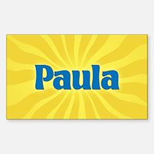 Paula Sunburst Oval Decal